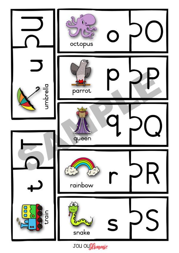 Letter puzzle sample